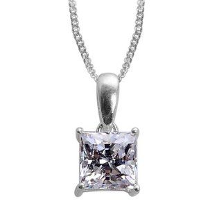 Jewelry - J Francis Solitaire Pendant Necklace 20 in